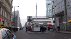 Charlie checkpoint berlin Stock Footage