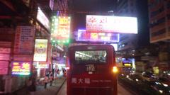Hong Kong Bus POV - CHINA - stock footage