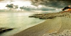 adriatic winter - stock photo