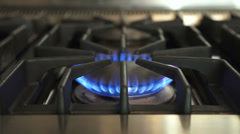 Gas Stovetop Stock Footage