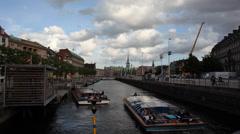 Copenhagen Canals Timelapse Stock Footage