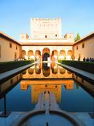 Alhambra courtyard - stock photo