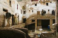 Stock Photo of The tanning Souk at Medina of Fes