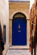 Stock Photo of Door entrance of Dar Loulema 2 rue Souss - Essaouira, Morocco