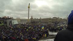 Революция в Украине. Евромайда́н (укр. Євромайдан) Stock Footage