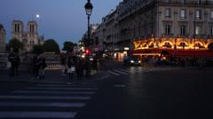 Paris ST MICHEL NOTRE DAME Timelapse Stock Footage