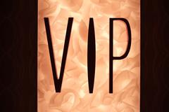 Vip sign with fiery background Stock Photos