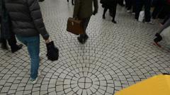 People walking in Shinjuku underground, Tokyo Stock Footage