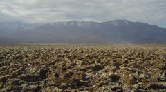 SALT FLATS IN DEATH VALLEY (PAN) # 3 Stock Footage