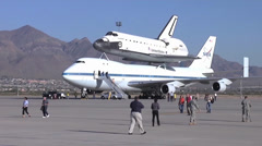 Space Shuttle Endeavor Visits Biggs Army Airfield Stock Footage