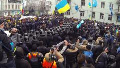 Strike in Ukraine - encounter of opposing forces! Stock Footage