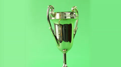 trophy turning on green screen - stock footage