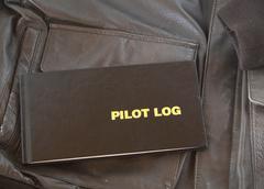 Pilot log a4 leather jacket Stock Photos