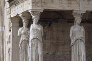 Stock Photo of Europe,Greece,Athens,Acropolis, Caryatids