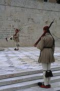 Greece, Athens,guard to the monument of the unknown soldier Stock Photos