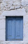 Greece, Dodecanese, Kos, window of the church - stock photo
