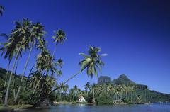 Polynesia, French Polynesia, Bora Bora - stock photo