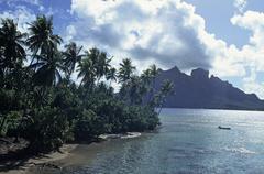 Polynesia, French Polynesia, Bora Bora Stock Photos