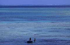 French Polynesia, Maupiti, seascape - stock photo