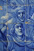 Portugal, Lisbon, azulejos - stock photo