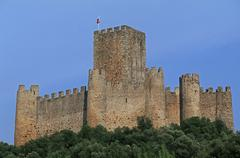 Portugal, Almourol, the Templars castle Stock Photos
