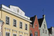 Stock Photo of Estonia,Tallinn,Old Town and The Town Hall Square (Raekoja plats),Old houses