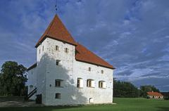 Estonia, Purtse, stronghold,fortified manor (16th C.) Stock Photos