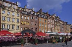 Poland,Warsaw, Rynek starego miasta, Old Town Market Square - stock photo