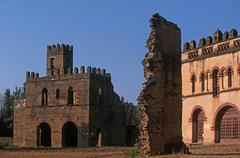 Ethiopia, Gondar,Imperial city, chancellery, Yohannes I Library - stock photo