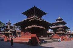 Nepal, Katmandu. Jagannath temple - stock photo