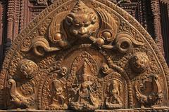 Nepal,Patan, Durbar Square, detail of Royal Palace - stock photo