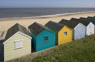 Stock Photo of Uk, England, Southwold, Suffolk, beach huts