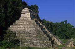 Mexico, Chiapas, Palenque Ruins, temple of the inscriptions Stock Photos