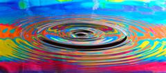 abstract psychedelic water ripples - stock photo