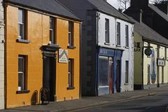 Stock Photo of Northen Ireland, Antrim County, Bushmills, the main street