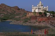 Stock Photo of India, Rajasthan, Jodhpur.Jaswant Thada, memorial to Maharaja Jaswant Singh II