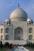 India, State of Uttar Pradesh, Agra, Taj Mahal Stock Photos