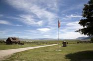Stock Photo of USA, Montana, Red Rock National Refuge, Ranger Station