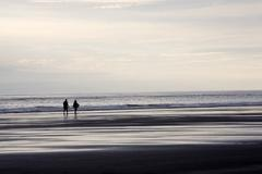 USA, Oregon coast, seaside beach - stock photo