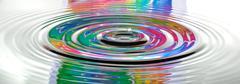 drop disturbs water psychedelic - stock photo