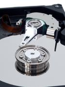 hard disk drive closeup - stock photo