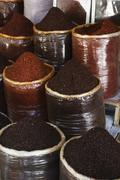 Turkey, Gaziantep, a selection of different kinds of coffee - stock photo
