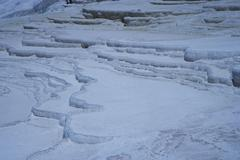 Turkey, the Pamukkale travertines plateau, created by calcium deposits - stock photo