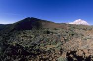 "Stock Photo of Spain, Canary Islands, Tenerife, Teide national Park, the ""Montana mustaza"""