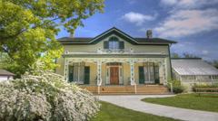Alexander Graham Bell Homestead, Brantford, Canada Stock Footage