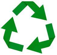 Green recycle symbol Stock Photos