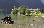 Stock Photo of Germany, Bavaria, Konigssee lake, St-Bartholoma chapel