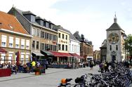 Stock Photo of Belgium, Flanders, town of Lier, the Zimmer tower 14e century
