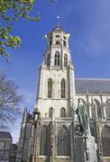 Belgium, Flanders. Town of Lier, St Gommaire church Stock Photos