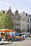 Belgium, Flanders. Town of Lier, square Grote Market Stock Photos